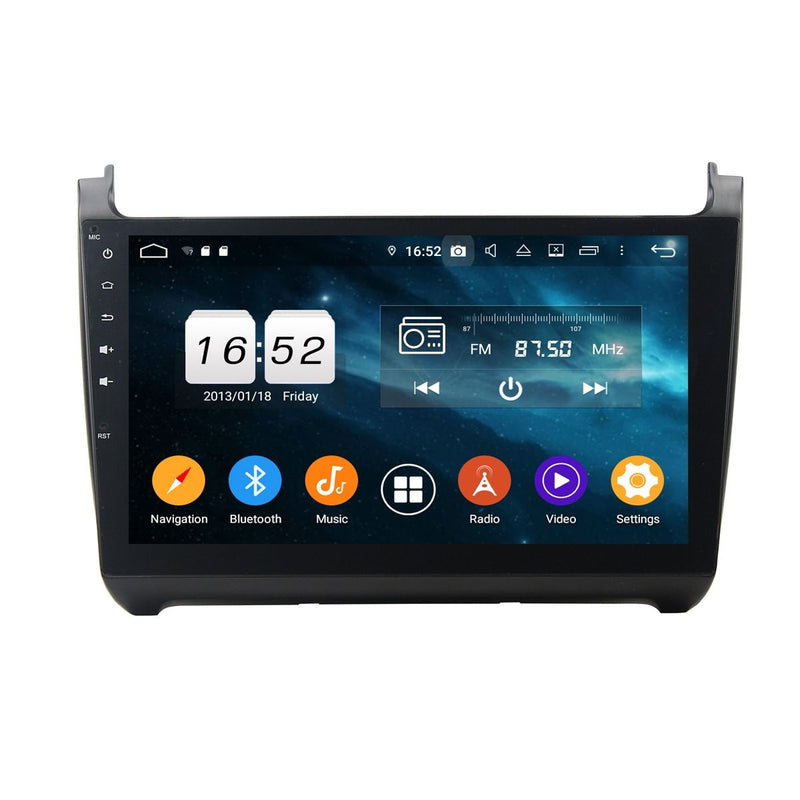 10.1 Inch Touchscreen Android 9.0 Car GPS Navigation for Volkswagen Polo(2015-2018), 4GB RAM+32GB ROM, Stereo Bluetooth 4G WIFI DSP Headunit - foyotech