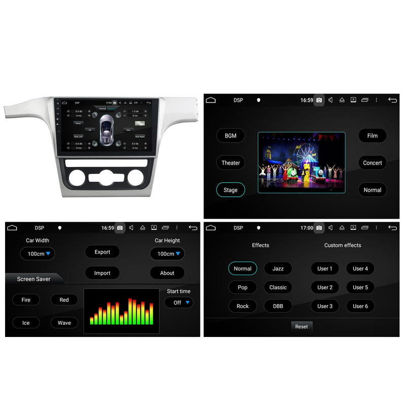Android 10 Double Din 10.1 Inch 1024x600 Touchscreen Autoradio Headunit for Volkswagen Passat(2013 2014), 8 Core 1.5GB CPU 32GB Flash 4GB DDR3 RAM, Auto Stereo GPS Navigation 3G 4G WIFI Bluetooth USB DSP Carplay&Auto Steering Wheel Control. 2Din Vehicle Touch Screen Multimedia Video Player System Head Unit.