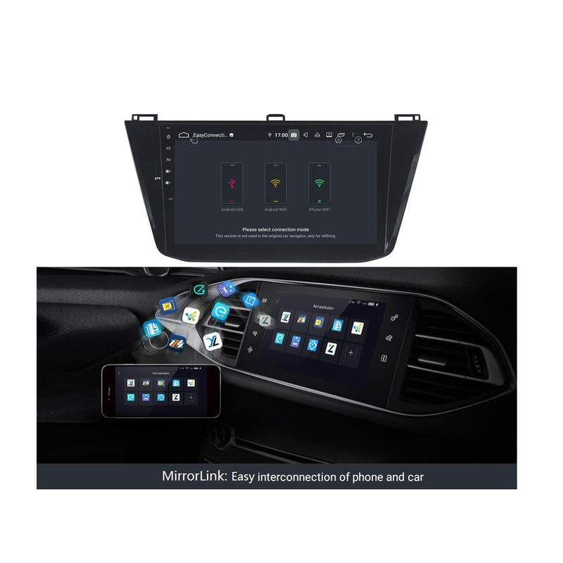 Android 9.0 DSP 10.1 Inch Touchscreen Auto GPS Navi for Volkswagen Tiguan(2016-2020), 4GB RAM+32GB ROM, Car Stereo Bluetooth 4G WIFI Headunit - foyotech