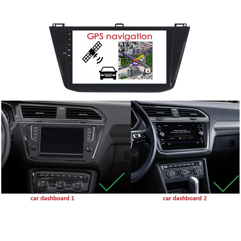 Android 10 Single Din 10.1 Inch 1024x600 Touchscreen Autoradio Headunit for VW Tiguan 2016 2017 2018 2019 2020, Octa Core 1.5GB CPU 32GB Flash 4GB DDR3 RAM, Car Stereo GPS Navigation 3G 4G WIFI Bluetooth USB DSP Carplay&Auto Steering Wheel Control. 1Din Vehicle Touch Screen Multimedia Video Player System Head Unit.