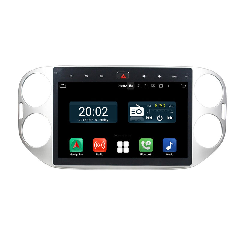 Android 10.0 Double Din 10.1 Inch 1024x600 Touchscreen Autoradio Headunit for VW Tiguan 2013 2014 2015, Octa Core 1.5GB CPU 32GB Flash 4GB DDR3 RAM, Car Stereo GPS Navigation 3G 4G WIFI Bluetooth USB DSP Carplay&Auto Steering Wheel Control. 2Din Vehicle Touch Screen Multimedia Video Player System Head Unit.