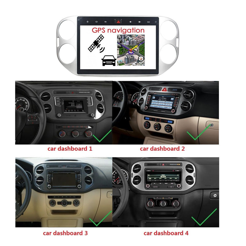 Android 9.0 10.1 Inch Touchscreen Auto GPS Navigation for Volkswagen Tiguan(2013-2015), 4GB RAM+32GB ROM, Car Stereo Bluetooth 4G WIFI DSP - foyotech
