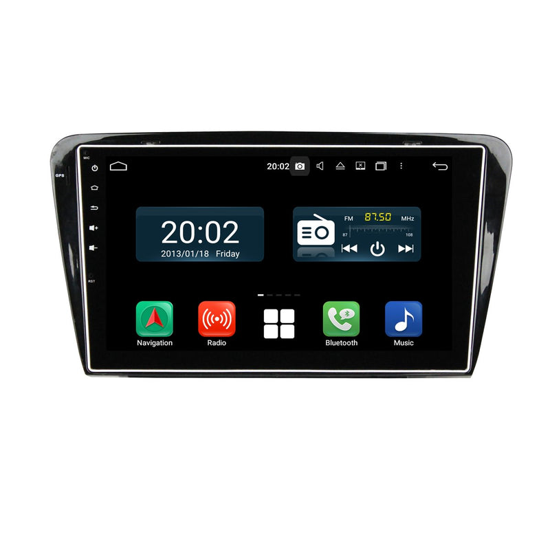 Android 10 1 Din 10.1 Inch 1024x600 Touchscreen Autoradio Headunit for Skoda Octavia 2014 2015, Octa Core 1.5GB CPU 32GB Flash 4GB DDR3 RAM, Car Stereo GPS Navigation 3G 4G WIFI Bluetooth USB DSP Carplay&Auto Steering Wheel Control. 1Din Vehicle Touch Screen Multimedia Video Player System Head Unit.