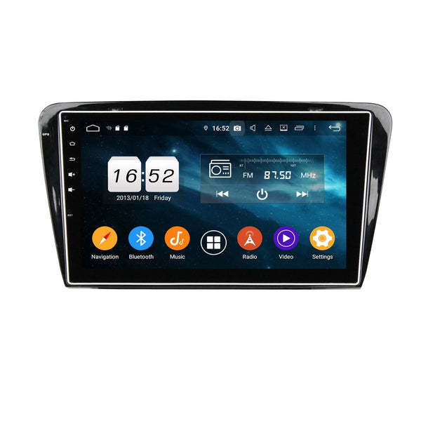 Android 9.0 Car GPS Navi Headunit for Skoda Octavia(2014-2015), 4GB RAM+32GB ROM, 10.1 Inch Touchscreen Stereo Bluetooth 4G WIFI DSP - foyotech