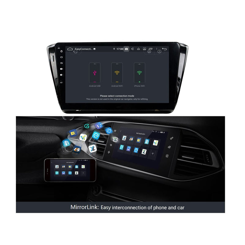 (Black) Android 9 Pie Car GPS Navigation Headunit for Skoda Superb(2015-2020), 4GB RAM+32GB ROM, 10.1 Inch Touchscreen Stereo Bluetooth 4G WIFI DSP - foyotech