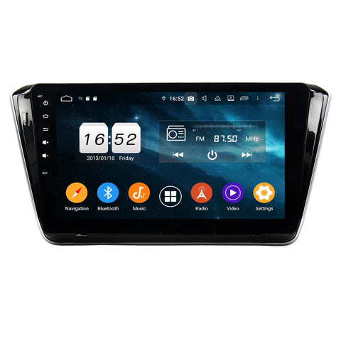(Silver) Android 9 Pie Car GPS Navigation Headunit for Skoda Superb(2015-2020), 4GB RAM+32GB ROM, 10.1 Inch Touchscreen Stereo Bluetooth 4G WIFI DSP - foyotech