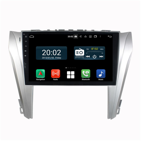 Android 10 2 Din 10.1 Inch 1024x600 Touchscreen Autoradio Headunit for Toyota Camry 2014 2015 2016 2017, Octa Core 1.5GB CPU 32GB Flash 4GB DDR3 RAM, Auto Radio GPS Navigation 3G 4G WIFI Bluetooth USB DSP Carplay&Auto Steering Wheel Control. 2Din Vehicle Touch Screen Multimedia Video Player System Head Unit.