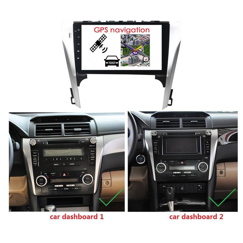 Android 10 2 Din 10.1 Inch 1024x600 Touchscreen Autoradio Headunit for Toyota Camry 2012 2013, Octa Core 1.5GB CPU 32GB Flash 4GB DDR3 RAM, Auto Radio GPS Navigation 3G 4G WIFI Bluetooth USB DSP Carplay&Auto Steering Wheel Control. 2Din Vehicle Touch Screen Multimedia Video Player System Head Unit.