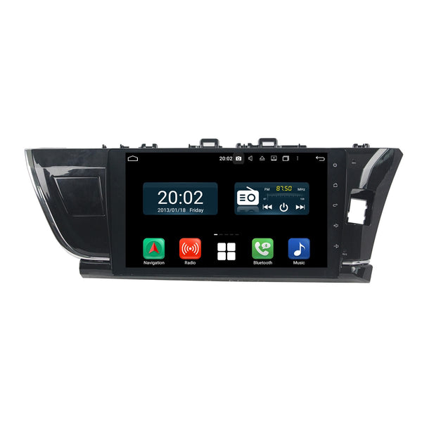 Android 10 Double Din 10.1 Inch Touchscreen Autoradio Headunit for Toyota Corolla/Auris 2014 2015 2016 right hand driving, Octa Core 1.5GB CPU 32GB Flash 4GB DDR3 RAM, Auto Radio GPS Navigation 3G 4G WIFI Bluetooth USB DSP Carplay&Auto Steering Wheel Control. 2Din Vehicle Touch Screen Multimedia Video Player System Head Unit.