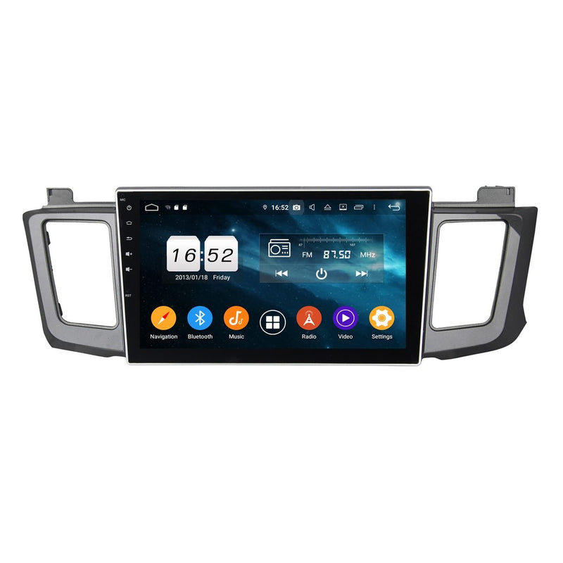 10.1 Inch Touchscreen Android 9.0 Auto GPS Navigation for Toyota RAV4/Vanguard(2013-2018), 4GB RAM+32GB ROM, DSP Car Radio Stereo Bluetooth 4G WIFI - foyotech