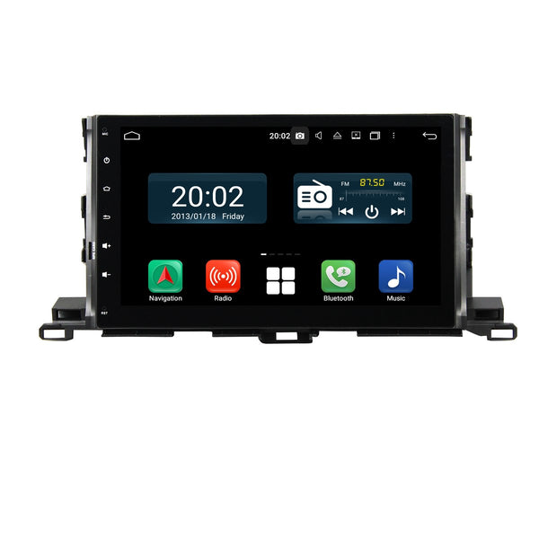 Android 10 Double Din 10.1 Inch Touchscreen Autoradio Headunit for Toyota Highlander/Kluger 2015 2016 2017 2018 2019 2020, Octa Core 1.5GB CPU 32GB Flash 4GB DDR3 RAM, Auto Radio GPS Navigation 3G 4G WIFI Bluetooth USB DSP Carplay&Auto Steering Wheel Control. 2 Din Vehicle Touch Screen Multimedia Video Player System Head Unit.