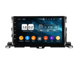 Touchscreen Android 9.0 Auto GPS for Toyota Highlander/Kluger(2015-2020), 4GB RAM+32GB ROM, DSP 10.1 Inch Car Radio Stereo Bluetooth 4G WIFI - foyotech