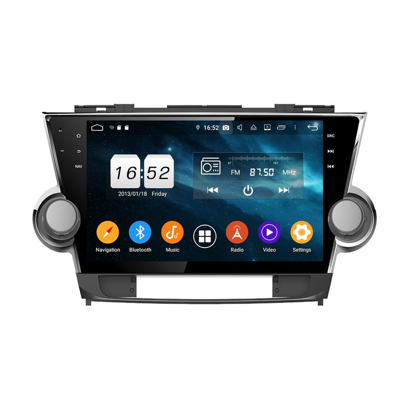 10.1 Inch Touchscreen Android 9.0 Auto GPS for Toyota Highlander/Kluger(2011-2014), 4GB RAM+32GB ROM, DSP Car Radio Stereo Bluetooth 4G WIFI - foyotech