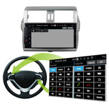 Android 10.0 Double Din 10.1 Inch Touchscreen Autoradio Headunit for Toyota Land Cruiser Prado 2014 2015 2016 2017, Octa Core 1.5GB CPU 32GB Flash 4GB DDR3 RAM, Auto Radio GPS Navigation 3G 4G WIFI Bluetooth USB MirrorLink Steering Wheel Control. 2Din Vehicle Touch Screen Multimedia Video Player System Head Unit.