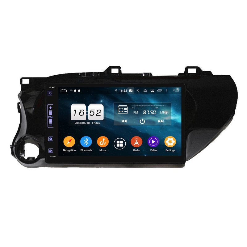 10.1 Inch Android 9.0 Car Stereo for Toyota Hilux(2016-2020), 4GB RAM+32GB ROM, Touchscreen DSP GPS Navigation Radio Bluetooth 4G WIFI - foyotech
