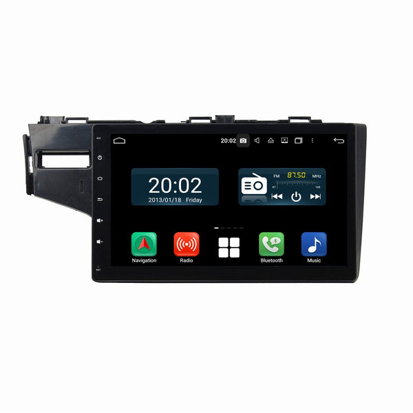 Android 10 2 Din 10.1 Inch 1024x600 Touchscreen Autoradio Headunit for Honda Fit/Jazz 2014 2015 2016 2017 2018 2019 left hand driving, Octa Core 1.5GB CPU 32GB Flash 4GB DDR3 RAM, Auto Radio GPS Navigation 3G 4G WIFI Bluetooth USB DSP Carplay&Auto Steering Wheel Control. 2Din Vehicle Touch Screen Multimedia Video Player System Head Unit.