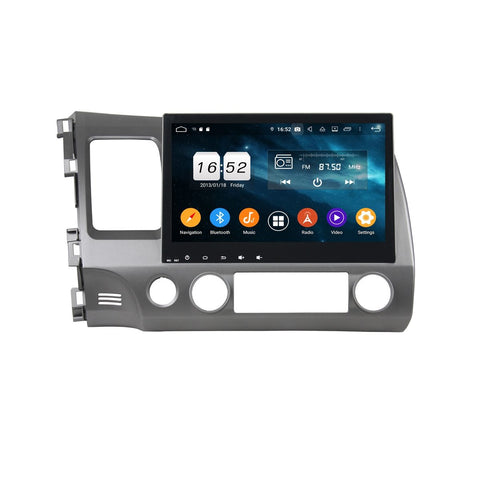10.1 Inch Touchscreen Car Radio for Honda Civic(2006-2011) LHD, 4GB RAM+32GB ROM, Android 9.0 DSP GPS Navigation Stereo Bluetooth 4G WIFI - foyotech
