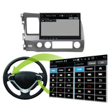 Android 10 2 Din 10.1 Inch 1024x600 Touchscreen Autoradio Headunit for Honda Civic 2006 2007 2008 2009 2010 2011 left hand driving, Octa Core 1.5GB CPU 32GB Flash 4GB DDR3 RAM, Auto Radio GPS Navigation 3G 4G WIFI Bluetooth USB DSP Carplay&Auto Steering Wheel Control. 2Din Vehicle Touch Screen Multimedia Video Player System Head Unit.