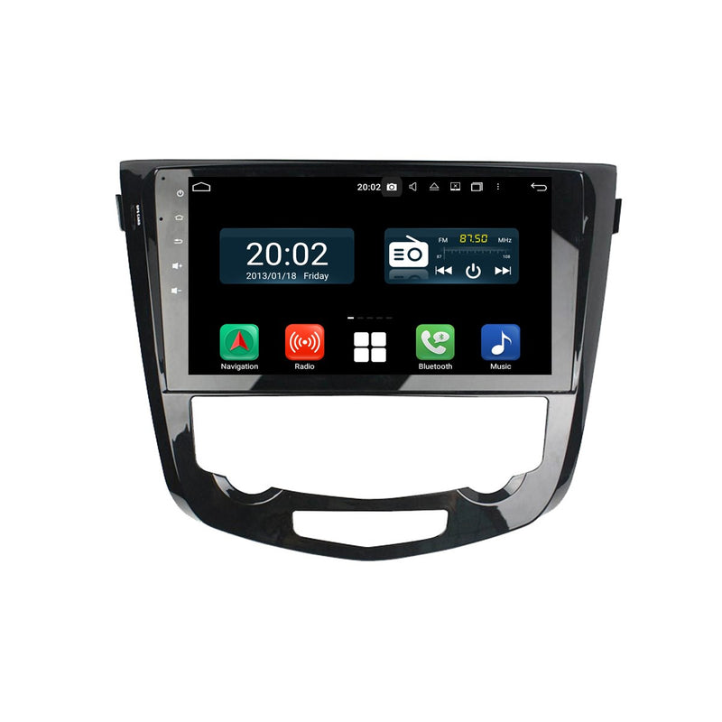 Android 10 2 Din 10.1 Inch Touchscreen Autoradio Headunit for Nissan Qashqai/X-trail/Rogue Sport 2013 2014 2015 2016 2017 2018 2019 2020, Octa Core 1.5GB CPU 32GB Flash 4GB DDR3 RAM, Auto Radio GPS Navigation 3G 4G WIFI Bluetooth USB DSP Carplay&Auto Steering Wheel Control. Vehicle Touch Screen Multimedia Video Player System Head Unit.