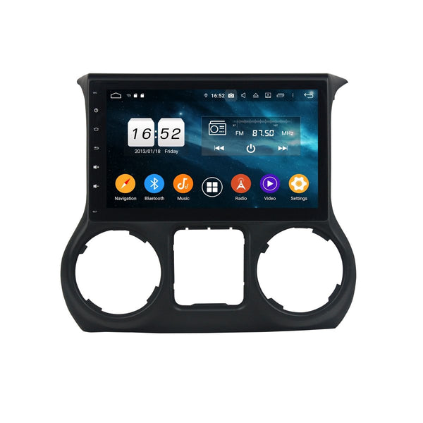 Android 9.0 DSP 10.1 Inch Touchscreen Car Video Player for Jeep Wrangler(2011-2015), 4GB RAM+32GB ROM, Radio GPS Navigation Stereo Bluetooth 4G WIFI Headunit - foyotech
