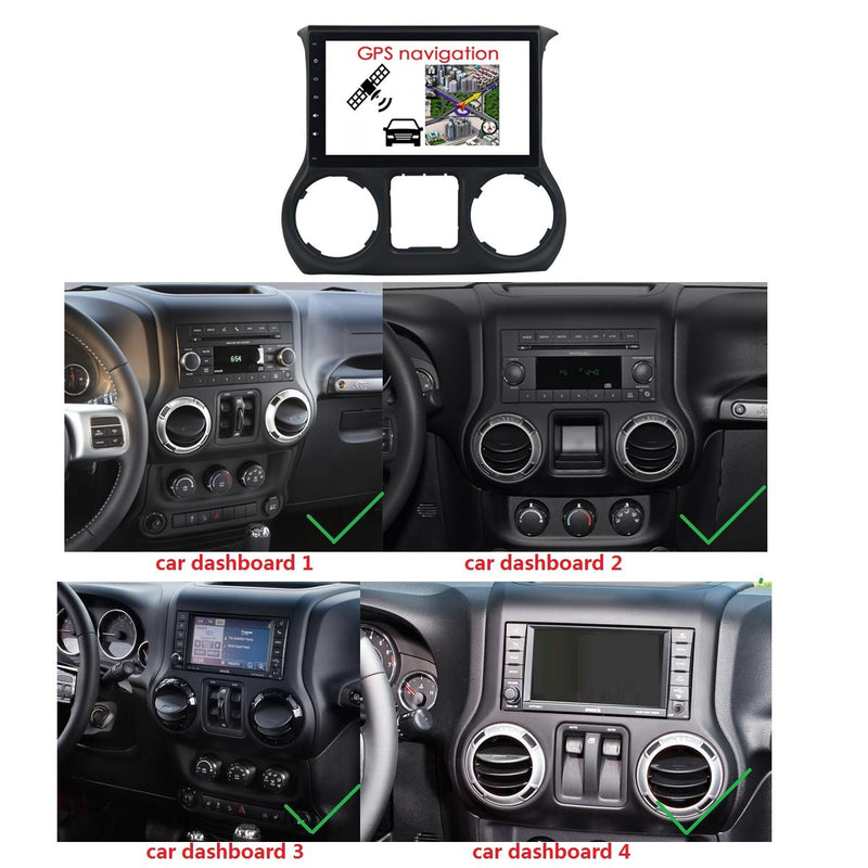 Android 10 1 Din 10.1 Inch 1024x600 Touchscreen Autoradio Headunit for Jeep Wrangler 2011 2012 2013 2014 2015, Octa Core 1.5GB CPU 32GB Flash 4GB DDR3 RAM, Auto Radio GPS Navigation 3G 4G WIFI Bluetooth USB DSP Carplay&Auto Steering Wheel Control. 1Din Vehicle Touch Screen Multimedia Video Player System Head Unit.