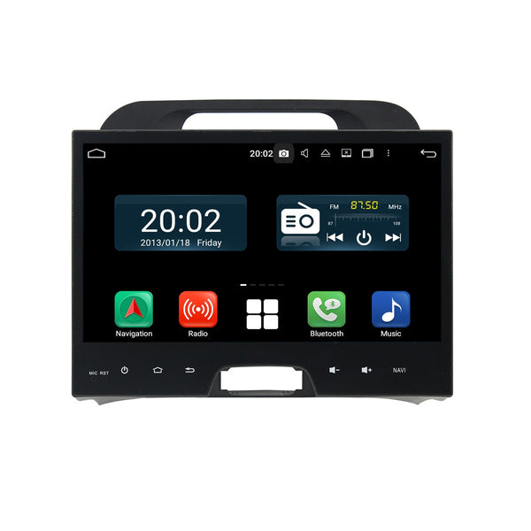 Android 10.0 Double Din 10.1 Inch 1024x600 Touchscreen Autoradio Headunit for Kia Sportage 2010 2011 2012 2013 2014 2015, Octa Core 1.5GB CPU 32GB Flash 4GB DDR3 RAM, Auto Radio GPS Navigation 4G WIFI Bluetooth USB DSP Carplay&Auto Steering Wheel Control. 2Din Vehicle Touch Screen Multimedia Video Player System Head Unit.