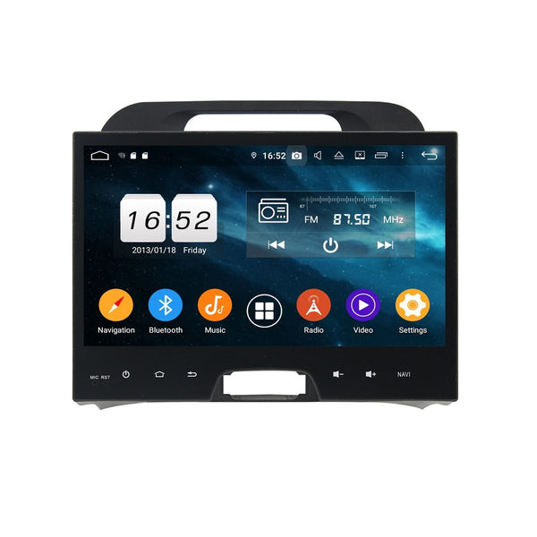 Android 9.0 OS Car Video Player for Kia Sportage(2010-2015), 10.1 Inch Touchscreen DSP Auto Radio Stereo GPS Navigation Bluetooth 4G WIFI, 4GB RAM+32GB ROM - foyotech