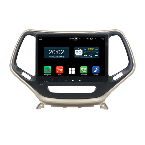 Android 10 1 Din 10.1 Inch 1024x600 Touchscreen Autoradio Headunit for Jeep Cherokee 2016 2017 2018 2019 2020, Octa Core 1.5GB CPU 32GB Flash 4GB DDR3 RAM, Auto Radio GPS Navigation 3G 4G WIFI Bluetooth USB MirrorLink Steering Wheel Control. 1Din Vehicle Touch Screen Multimedia Video Player System Head Unit.