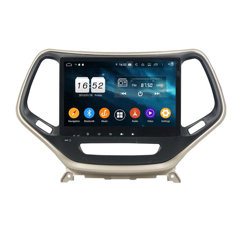10.1 Inch Android 9.0 OS Car DSP Multimedia Player for Jeep Cherokee(2016-2020), 4GB RAM+32GB ROM, Touchscreen Radio GPS Navigation Stereo Bluetooth 4G WIFI - foyotech