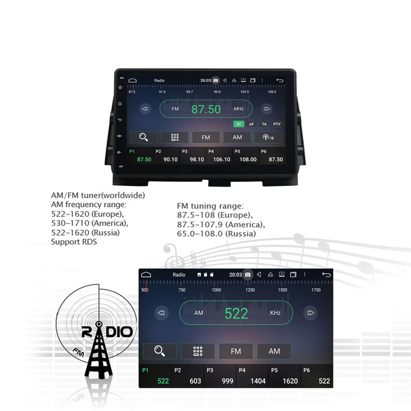 Android 10.0 2 Din 10.1 Inch 1024x600 Touchscreen Autoradio Headunit for Nissan Kicks 2016 2017 2018 2019 2020, Octa Core 1.5GB CPU 32GB Flash 4GB DDR3 RAM, Auto Radio GPS Navigation 3G 4G WIFI Bluetooth USB DSP Carplay&Auto Steering Wheel Control. 2Din Vehicle Touch Screen Multimedia Video Player System Head Unit.