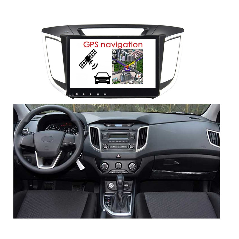 10.1 Inch Android 9.0 Car GPS Radio for Hyundai IX25/Cantus/Creta(2014-2018), Touchscreen DSP Auto Stereo Bluetooth 4G WIFI, 4GB RAM+32GB ROM - foyotech