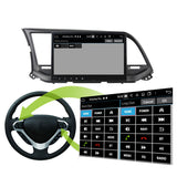 Android 10 Double Din 10.1 Inch Touchscreen Autoradio Headunit for Hyundai Elantra/Avante 2016 2017 2018 2019 2020, Octa Core 1.5GB CPU 32GB Flash 4GB DDR3 RAM, Auto Radio GPS Navigation 3G 4G WIFI Bluetooth USB DSP Carplay&Auto Steering Wheel Control. 2Din Vehicle Touch Screen Multimedia Video Player System Head Unit.