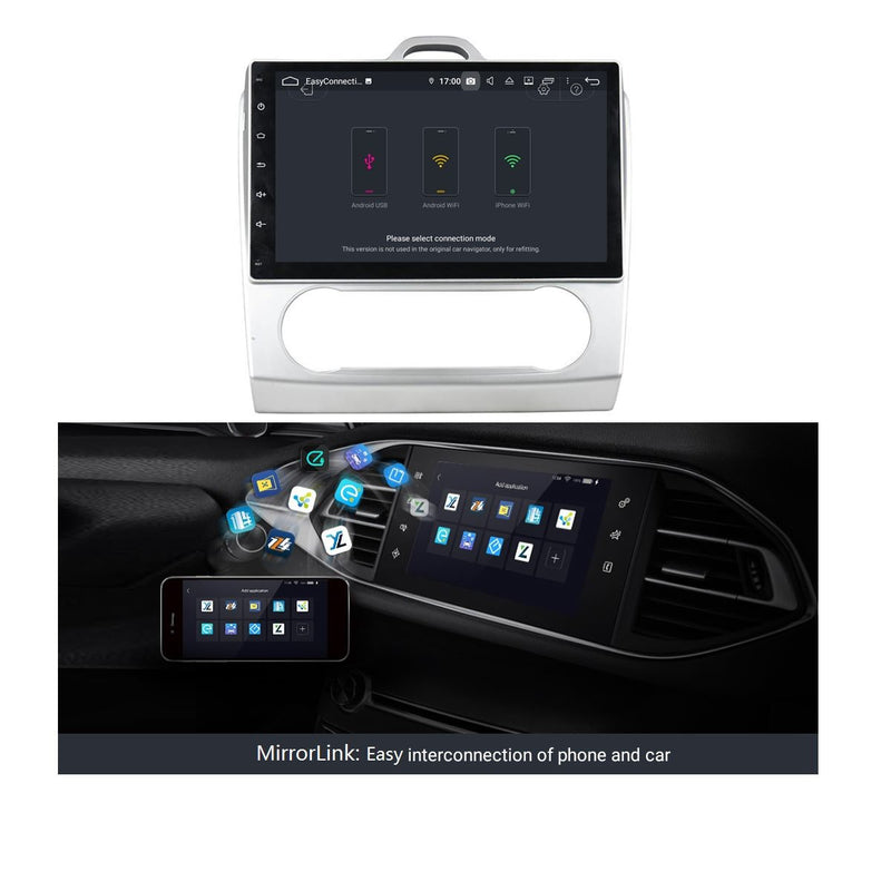 Android 9.0 DSP 9 Inch Touchscreen Car Video Player for Ford Focus/Focus MK III(2007-2011), 4GB RAM+32GB ROM, Radio GPS Navigation Stereo Bluetooth 4G WIFI Headunit - foyotech