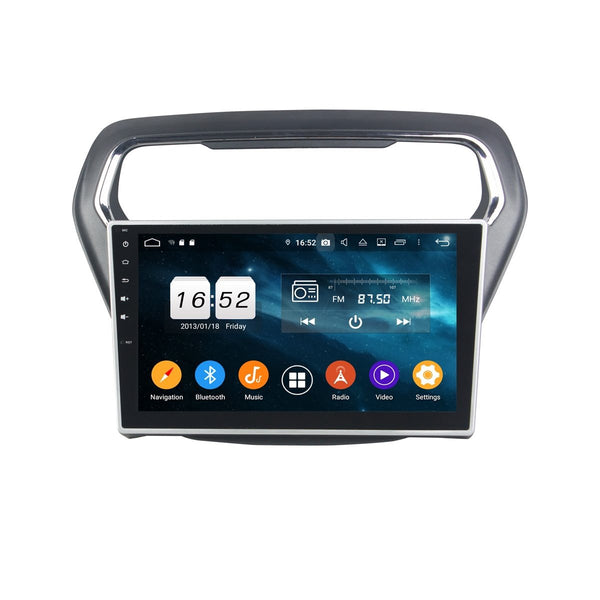 Android 9.0 DSP 10.1 Inch Touchscreen Car Video Player for Ford Escort(2014-2017), 4GB RAM+32GB ROM, Radio GPS Navigation Stereo Bluetooth 4G WIFI Headunit - foyotech