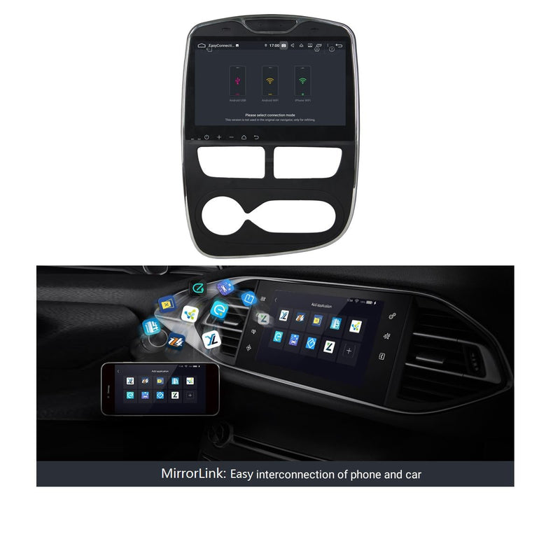 10.1 Inch Android 9.0 Autoradio for Renault Clio IV/Lutecia(2012-2016), 4GB RAM+32GB ROM, Touchscreen Car GPS Navigation DSP Bluetooth 4G WIFI - foyotech
