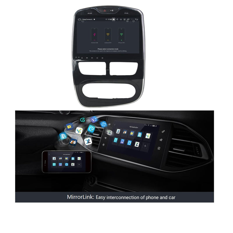 Android 9.0 10.1 Inch Autoradio for Renault Clio IV/Lutecia(2012-2016), 4GB RAM+32GB ROM, Touchscreen Car GPS Navigation DSP Bluetooth 4G WIFI - foyotech