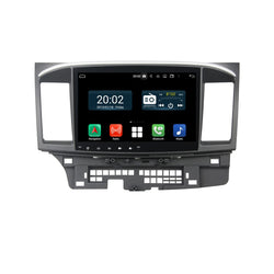 Android 10 2 Din 10.1 Inch Touchscreen Autoradio Headunit for Mitsubishi Lancer(2006-2019), Octa Core 1.5GB CPU 32GB Flash 4GB DDR3 RAM, Auto Radio GPS Navigation 3G 4G WIFI Bluetooth USB MirrorLink Steering Wheel Control. Double Din Vehicle Touch Screen Multimedia Video Player System Head Unit.