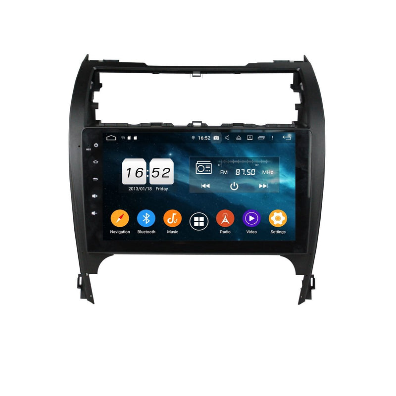 10.1 inch Touchscreen Android 9.0 OS Car GPS Navigation for Toyota Camry(2012-2017), Octa Core 1.5G CPU 4G DDR3 RAM 32G Flash, Auto Radio Bluetooth 4G WIFI OBDII MirrorLink - foyotech
