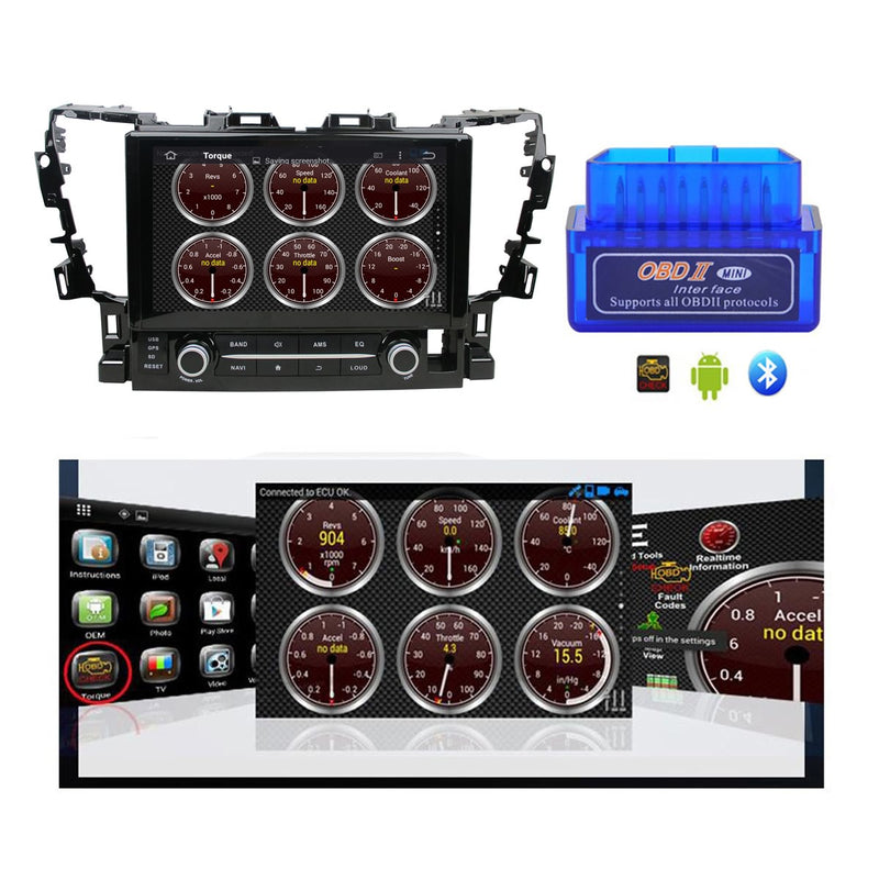 Android 10 2 Din 10.1 Inch 1024x600 Touchscreen Autoradio Headunit for Toyota Alphard 2015 2016 2017 2018 2019 2020, Octa Core 1.5GB CPU 32GB Flash 4GB DDR3 RAM, Auto Radio GPS Navigation 3G 4G WIFI Bluetooth USB DSP Carplay&Auto Steering Wheel Control. 2Din Vehicle Touch Screen Multimedia Video Player System Head Unit.
