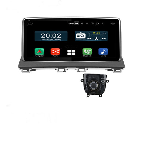 Android 10 1 Din 10.25 Inch 1024x600 Touchscreen Autoradio Headunit for Mazda3 Axela 2013 2014 2015 2016 2017 2018 2019 2020, Octa Core 1.5GB CPU 32GB Flash 4GB DDR3 RAM, Auto Radio GPS Navigation 3G 4G WIFI Bluetooth USB DSP Carplay&Auto Steering Wheel Control. 1Din Vehicle Touch Screen Multimedia Video Player System Head Unit.