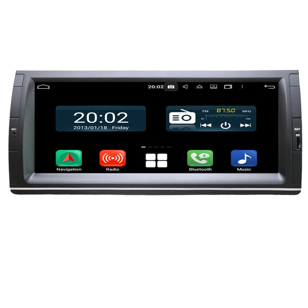 Android 10.0 Double Din 10.25 Inch Touchscreen Autoradio Headunit for BMW M5 E39(1995-2003)/X5 E53(2000-2007), Octa Core 1.5GB CPU 32GB Flash 4GB DDR3 RAM, Auto Radio GPS Navigation 3G 4G WIFI Bluetooth USB DSP Carplay&Auto Steering Wheel Control. 2Din Vehicle Touch Screen Multimedia Video Player System Head Unit.