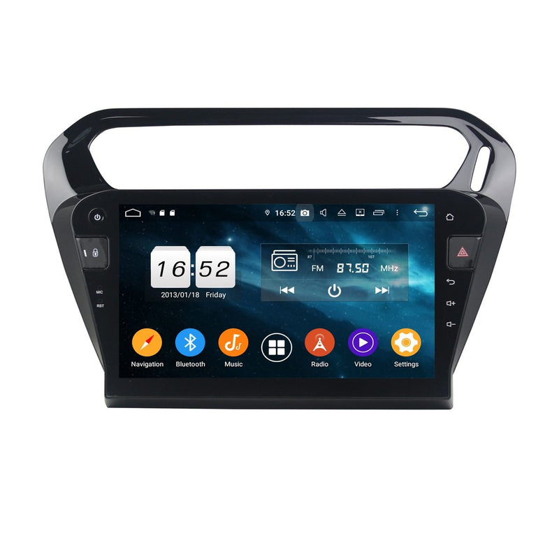(Black) 10.1 Inch Touchscreen Android 9.0 Auto Radio Headunit for Citroen C-Elysée(2013-2020), 4GB RAM+32GB ROM, DSP GPS Navigation Stereo Bluetooth 4G WIFI - foyotech