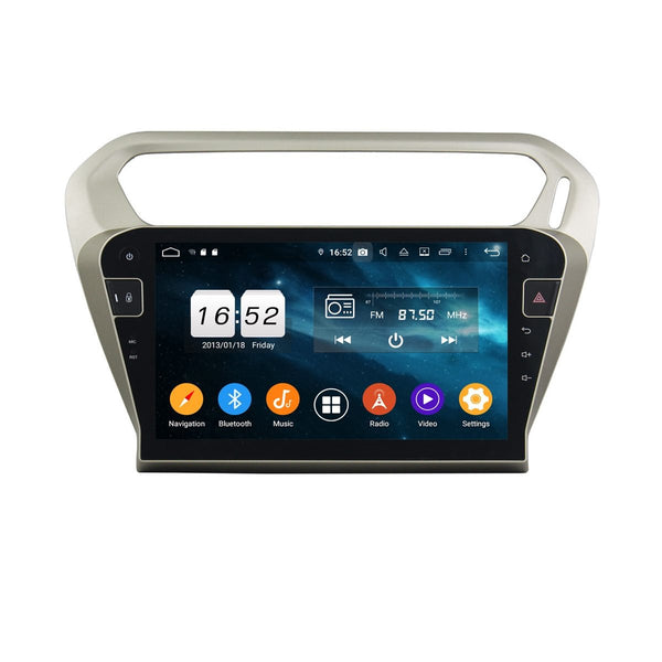 (Silver) 10.1 Inch Android 9.0 Auto Radio for Citroen C-Elysée(2013-2020), 4GB RAM+32GB ROM, Touchscreen DSP GPS Navigation Stereo Bluetooth 4G WIFI Headunit - foyotech