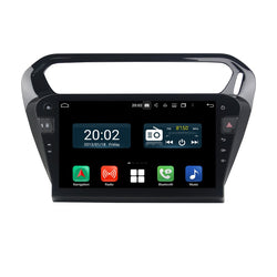 (Black) Android 10 1 Din 10.1 Inch 1024x600 Touchscreen Autoradio Headunit for Peugeot 301(2013 2014 2015 2016 2017 2018 2019 2020), 8 Core 1.5GB CPU 32GB Flash 4GB DDR3 RAM, Auto Radio GPS Navigation 3G 4G WIFI Bluetooth USB DSP Carplay&Auto Steering Wheel Control. Vehicle Touch Screen Multimedia Video Player System Head Unit.