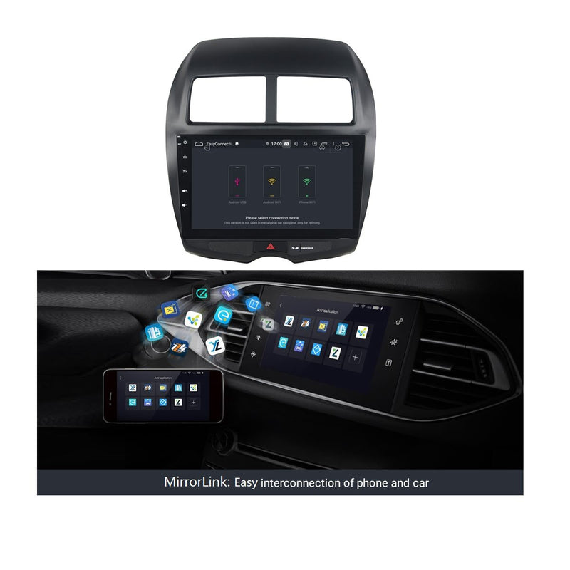 Android 9.0 Auto Stereo for Peugeot 4008(2010-2017), 10.1 Inch Touchscreen DSP Car Radio GPS Navigation Bluetooth 4G WIFI, 4GB RAM+32GB ROM - foyotech