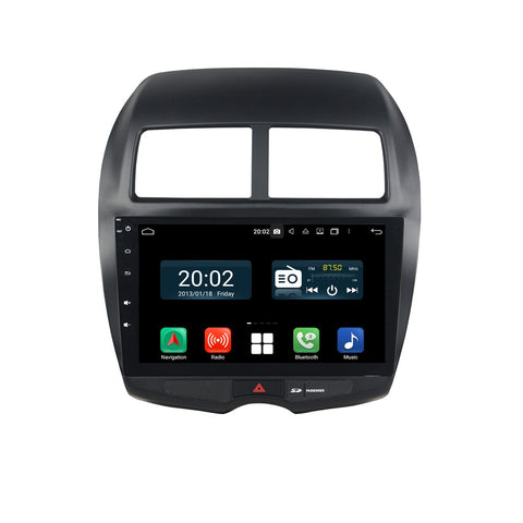 Android 10 2 Din 10.1 Inch Touchscreen Autoradio Headunit for Peugeot 4008(2010-2017), Octa Core 1.5GB CPU 32GB Flash 4GB DDR3 RAM, Auto Radio GPS Navigation 3G 4G WIFI Bluetooth USB DSP Carplay&Auto Steering Wheel Control. 2Din Vehicle Touch Screen Multimedia Video Player System Head Unit.