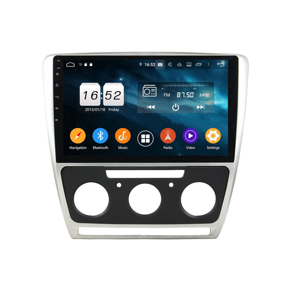 Android 9 Pie DSP Car GPS Navigation for Skoda Octavia(2008-2014), 4GB RAM+32GB ROM, 10.1 Inch Touchscreen Stereo Bluetooth 4G WIFI - foyotech