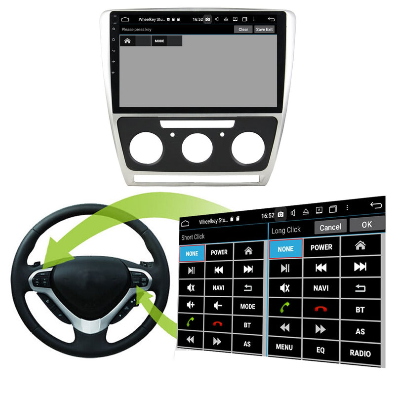 Android 10 1 Din 10.1 Inch Touchscreen Autoradio Headunit for Skoda Octavia 2008 2009 2010 2011 2012 2013 2014, Octa Core 1.5GB CPU 32GB Flash 4GB DDR3 RAM, Car Stereo GPS Navigation 3G 4G WIFI Bluetooth USB DSP Carplay&Auto Steering Wheel Control. 1Din Vehicle Touch Screen Multimedia Video Player System Head Unit.