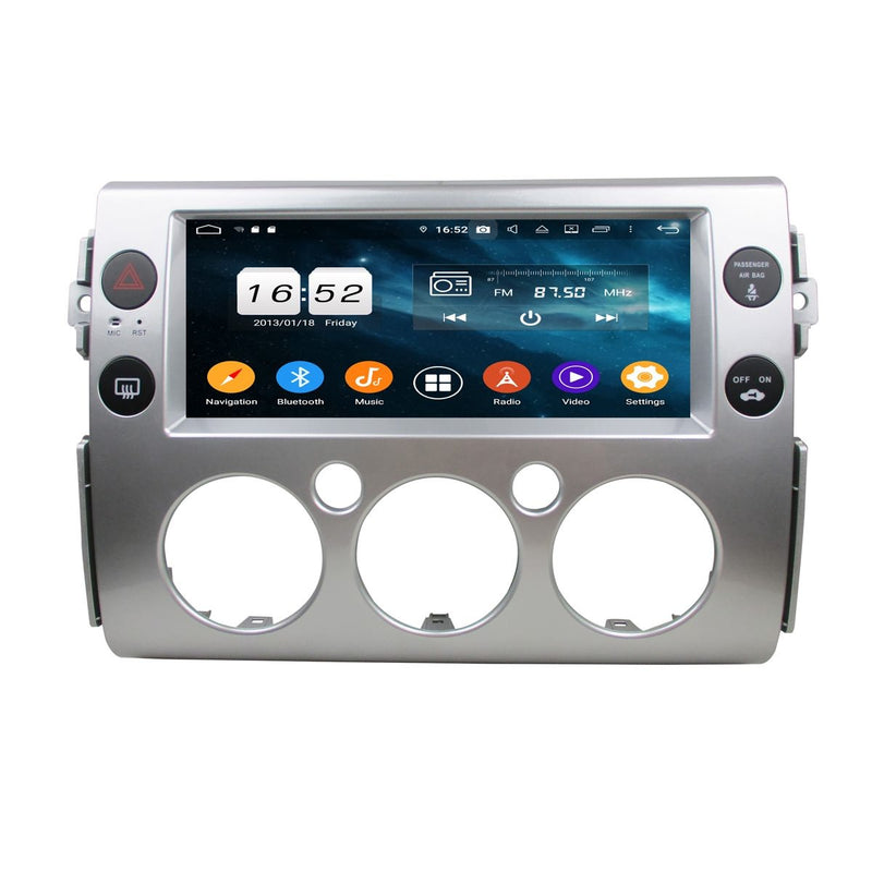 10.25 Inch Android 9.0 Car Radio for Toyota FJ cruiser(2007-2020), 4GB RAM+32GB ROM, Touchscreen DSP GPS Navigation Stereo Bluetooth 4G WIFI - foyotech