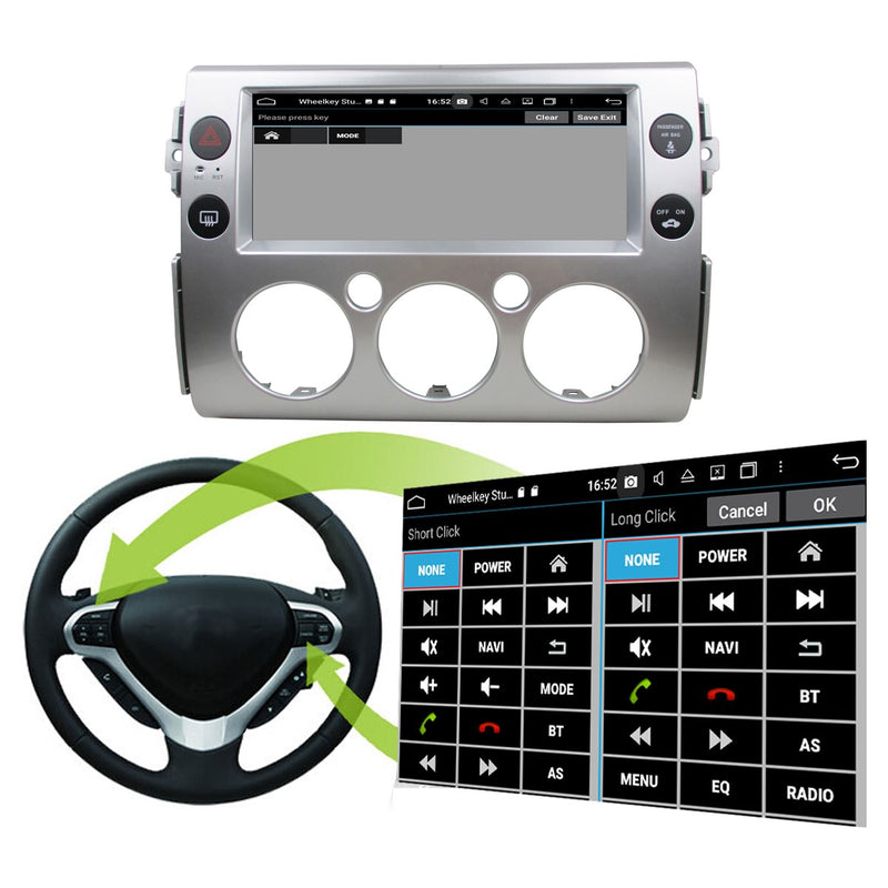 Android 10 1 Din 10.25 Inch 1024x600 Touchscreen Autoradio Headunit for Toyota FJ Cruiser 2007 2008 2009 2010 2011 2012 2013 2014 2015 2016 2017 2018 2019 2020, Octa Core 1.5GB CPU 32GB Flash 4GB DDR3 RAM, Auto Radio GPS Navigation 3G 4G WIFI Bluetooth USB DSP Carplay&Auto Steering Wheel Control.